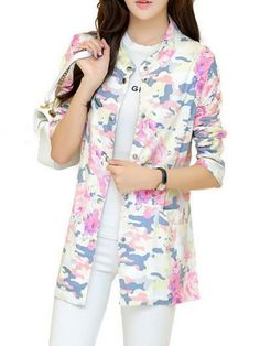 Printed Band Collar Trench Coats Only $26.95 USD More info...