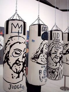 "Andy Warhol and Jean-Michel Basquiat ""Ten Punching Bags (Last Supper)"" 1985-86"