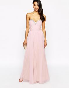 Image 1 of Lipsy VIP Embellished Maxi Dress With Tulle Skirt