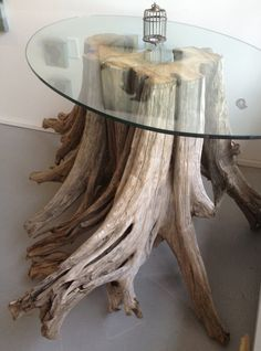 Magnificent One of a kind Driftwood and Glass  von AMonthOfSundays, $2800.00