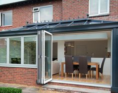 Benefit from full-length window panes with an Ultraframe loggia orangery designed by Crystal Living, made bespoke for your Cheshire home. Extension Google, Rear Extension, Extension Ideas, Orangery Extension, Kitchen Diner Extension, House Extensions, Open Plan, Kitchen Design, Living Spaces