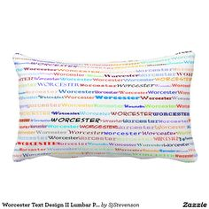 Worcester Text Design II Lumbar Pillow