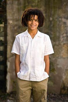 Kids Classic Linen Guayabera - Short Sleeve
