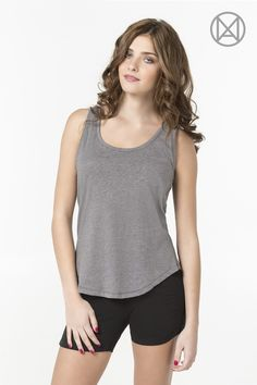 Heather grey MOVE tank with front pocket  Available at Ardene