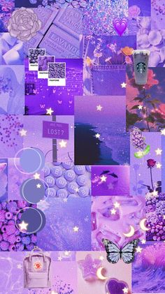 Lilac aesthetic wallpaper