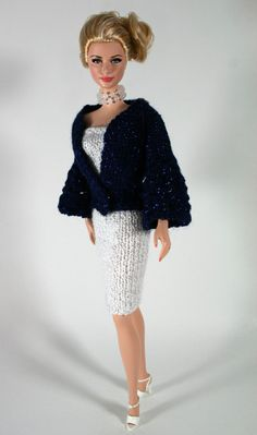 Shimmery Blue Jacket and Dress for Barbie by ChicBarbieDesigns, $19.99