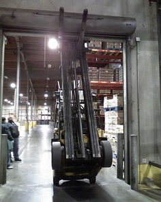 Travel with those forks low #forklift