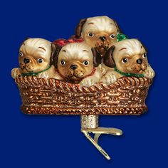12434-Pile of Puggles. This clip-on ornament is a must for all the Pug owners/lovers out there!