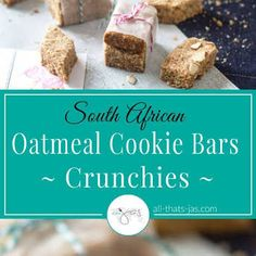 So easy so tasty I made a second batch Oatmeal Cookie Bars, Oatmeal Flour, South African Recipes, Golden Syrup, Potluck Recipes, Shredded Coconut, Baking Soda, Sweet Tooth, Tasty