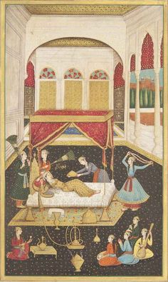 Nur Jahan at ease in the Zenana