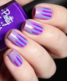 Easy Nail Art - Purple Waterfall Manicure with Pretty Serious Cosmetics Awkward Pet Names Collection polishes | Sassy Shelly