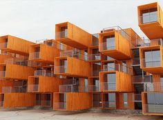 Houses made with container for residential condominiums