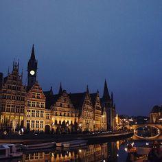 by fattylovelove: The dreamy waterside of Gent...
