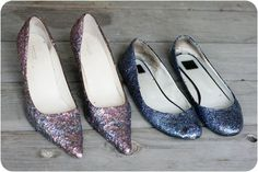 Just found a pair of black heels to try this on!     http://greeneyed.com/2011/11/glitter-shoes/