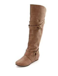 Belted Mini Wedge Boot: Charlotte Russe