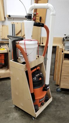 Check out my video on making this handy dust collection cart! Check out my video on making this handy dust collection cart!