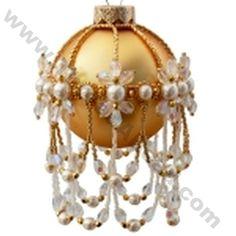Edwardian Splenda Large Christmas Ornament Bead Pattern By ThreadABead