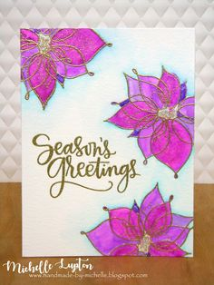 Handmade by Michelle: Challenge me a Christmas Card with Jane Clark