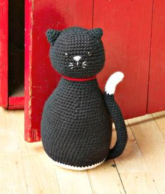 Free Crochet Amigurumi Black Cat Door Stopper