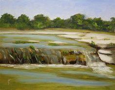 "Daily Paintworks - ""Bull Creek Falls"" - Original Fine Art for Sale - © Jane Frederick"