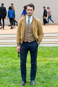 David Gandy en la presentación SS14 de Burberry Prorsum, durante London Collections,  en Londres.