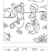 Prodigal Son hidden pictures coloring page