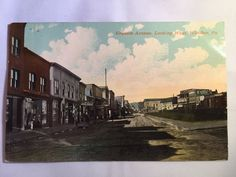 Vintage Graham Avenue Windber, PA Historic District postcard marked July 2 1912