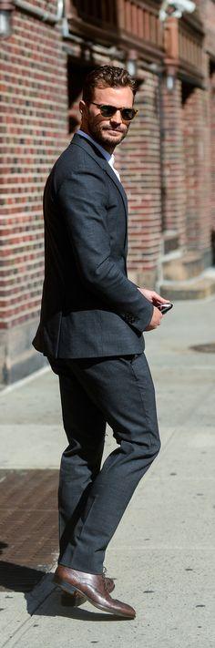 Jamie Dornan arriving at Stephen Colbert Show August 4, 2016