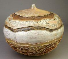 Carrie Doman - wonderful piece, love the colors, contrasting textures, shape!