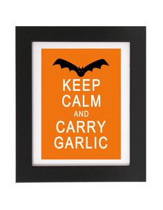 Printable Halloween  Keep Calm and CARRY by FoxyCouturePaperCuts, $4.00
