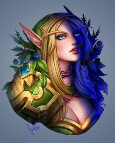 World Of Warcraft - Alleria Windrunner World Of Warcraft Game, Warcraft Art, Werewolf Wattpad, Character Inspiration, Character Art, Elven Woman, Dnd Elves, Wow World, Fantasy Heroes