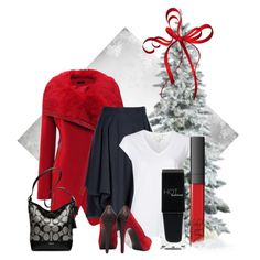Red and Black by renbat on Polyvore featuring Witchery, Vivienne Westwood Anglomania, Reiss, Coach, NARS Cosmetics and HOTmakeup