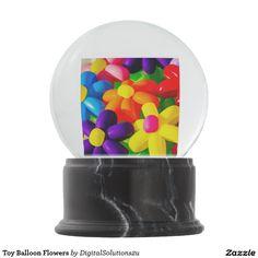 Toy Balloon Flowers Snow Globe