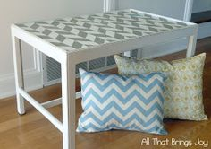 Geometrics are so HOT right now.. love this soft grey with pastels.
