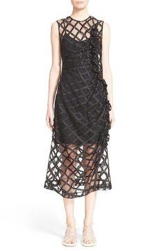 SIMONE ROCHA Rope Print Tulle Ruffle Dress. #simonerocha #cloth #