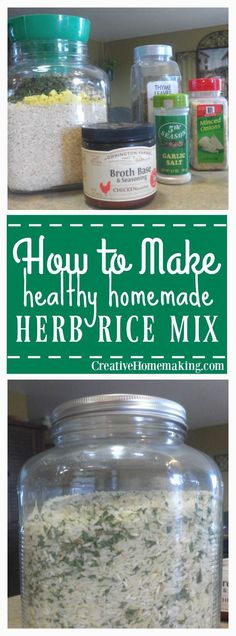 Easy, inexpensive recipe for herb rice mix. Healthy and tastes better than store bought!
