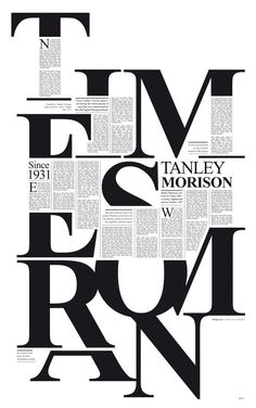 hec21:    TIMES NEW ROMAN.  Tribute to Stanley Morison designed by Colombian typographer and editorial graphic designer Pedro Javier Arbelaez.