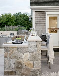 Beautiful light color outdoor kitchen!  Great Lakes Stoneworks is one of the areas finest fabricators of granite marble! They so fabrication and installation of granite, marble, quartz, & silestone! Call (586) 294-7930 or visit www.glstoneworks.com for more information!