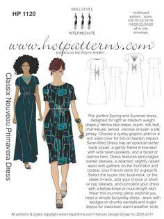 HotPatterns - HP 1120 Classix Nouveau Primavera Dress, $18.95 (http://www.hotpatterns.com/products/HP-1120-Classix-Nouveau-Primavera-Dress.html)