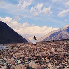#TheAdventuresOfAmanda in Embalse El Yeso. Cajón del Maipo, Chile.