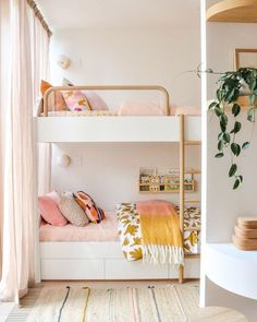 8 Bunk Beds That Your Kids Wont Want to Outgrow Bohemian Bedroom Decor Beds Bunk. 8 Bunk Beds That Your Kids Wont Want to Outgrow Bohemian Bedroom Decor Beds Bunk Kids Outgrow wont interior design Bohemian Bedrooms, Girls Bunk Beds, Small Bunk Beds, White Bunk Beds, Modern Bunk Beds, Triple Bunk, Big Girl Rooms, Girl Kids Room, Girls Pink Bedroom Ideas