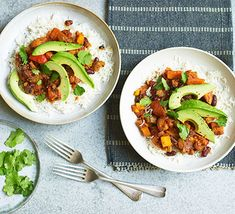 This vegan chilli packs in plenty of vegetables and doesn't fall short on the flavour front. Serve it with rice or in jacket potatoes for a filling supper Vegan Recipes Bbc, Vegan Chilli Recipe, Vegan Recipes Beginner, Chilli Recipes, Bbc Good Food Recipes, Vegan Dinner Recipes, Vegan Breakfast Recipes, Vegan Dinners, Vegetarian Recipes Easy