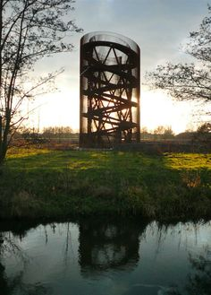 The Observatory, an observation tower/ artwork in the new Leidsche Rijn landscape park near Utrecht, The Netherlands. - photo by Klaas Vermaas, via Flickr, on thefoxisblack blog