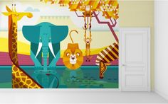 Giant kids wall murals by E-Glue. Custom sizes.