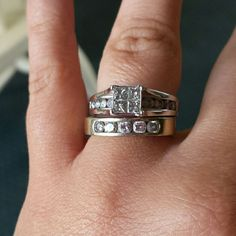 1 And 1/5 14kt White Gold Diamond Ring From Kay