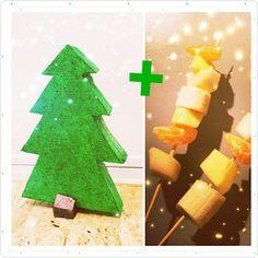 Hoe tover je simpele fruitspiesjes om tot kerstspiesjes?