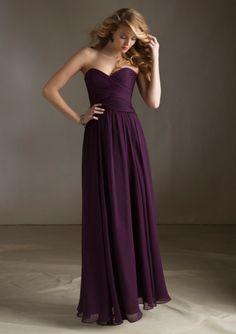 Long Strapless Sweetheart Purple Bridesmaid Dress #darkpurple https://www.facebook.com/DreampurpleUK
