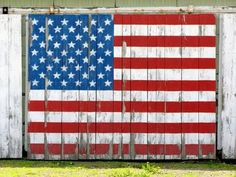 Old Glory painted on a barn door! Very Americana! I Love America, God Bless America, America America, A Lovely Journey, Home Of The Brave, Let Freedom Ring, Thing 1, Old Glory, Old Barns