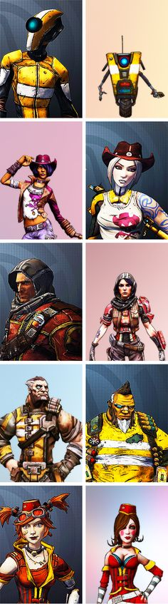 Borderlands: The Pre-Sequel Heads and Skins