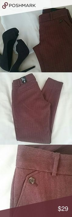"NWT Drew Fit Skinny Pants from the Limited Gorgeous deep burgundy color will add an elegant pop of color to your wardrobe! The Drew Fit is The Limited's modern fit which sits low on the waist, straight hip and thigh and skinny leg.   Waist 15"" lying flat  Inseam 29"" The Limited Pants"